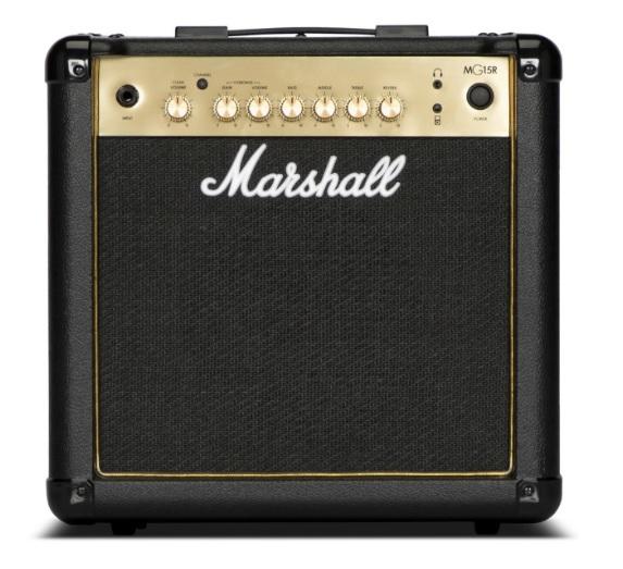 Marshall MG15GR Ενισχυτής Κιθάρας combo 15W Gold, Reverb Effect