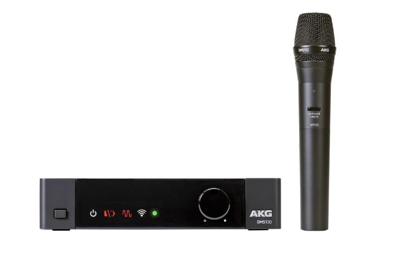 Akg DMS100 Mic Set Ψηφιακό Σετ Ασύρματου Μικροφώνου Χειρός 4 Καναλιών
