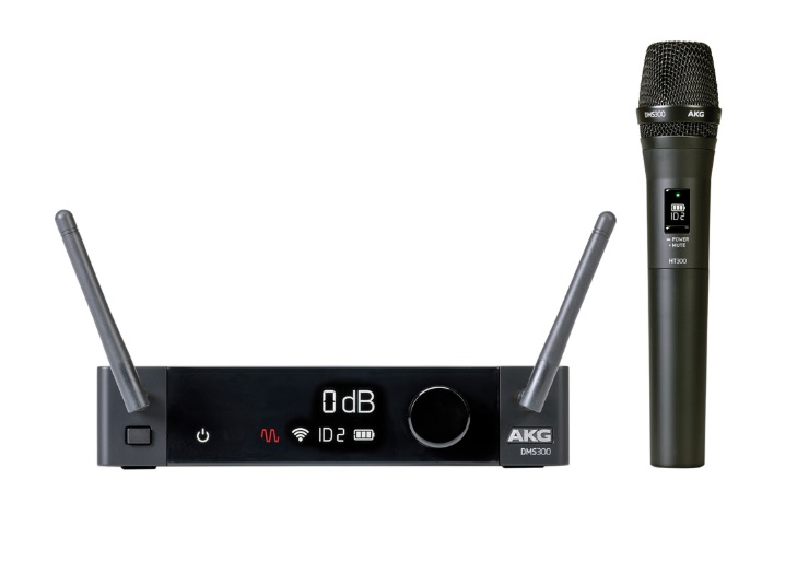 Akg DMS300 Mic Set Ψηφιακό Σετ Ασύρματου Μικροφώνου Χειρός 8 Καναλιών