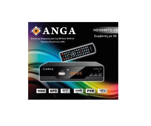 ANGA HD5000T2-3D MPEG4 DVB-T2 Full HD Eπίγειος Ψηφιακός Αποκωδικοποιητής