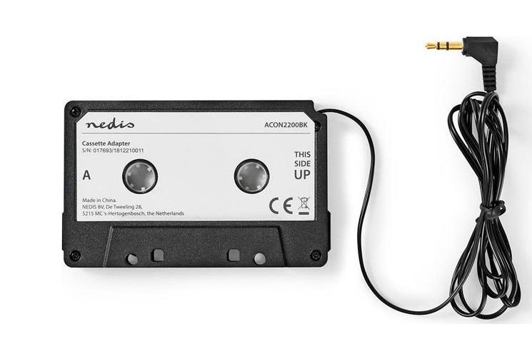 NEDIS ACON2200BK - 0319 Κασέτα-adaptor με Βύσμα 3,5 χιλιοστών για Κασετόφωνο Αυτοκινήτου