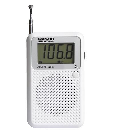 DAEWOO DRP-115 Φορητό Ψηφιακό Ραδιόφωνο Λευκό