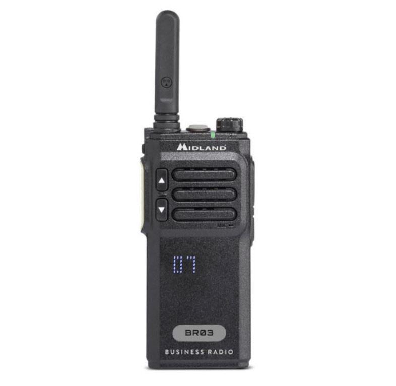 Midland BR03 Φορητός Επαγγελματικός Πομποδέκτης PMR446, VOX, Display