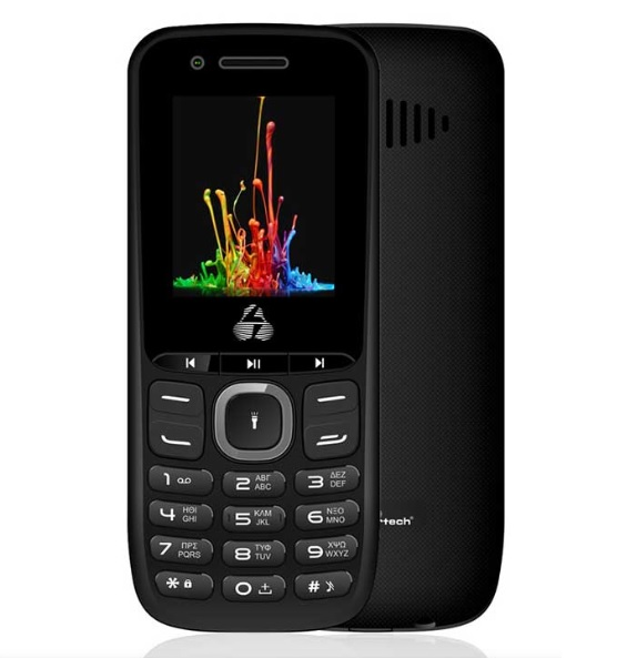 Powertech Milly Small PTM-14 Κινητό Τηλέφωνο,Dual SIM, Multimedia, Μαύρο