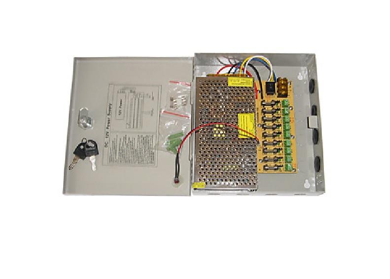 ANGA CP1209-10A-9 Tροφοδοτικό CCTV 9 Εξόδων 12V / 10A / 120W