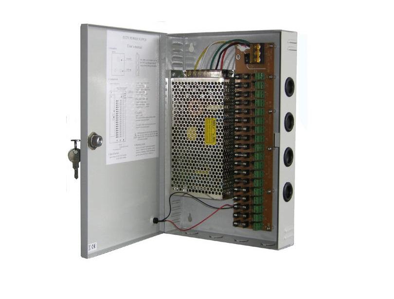 ANGA CP1209-15A-18 Τροφοδοτικό CCTV 18 εξόδων 12V / 15A / 180W