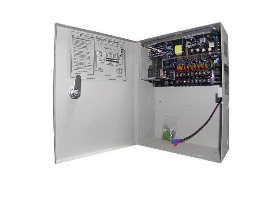 ANGA CP1209-10A-9-B Τροφοδοτικό 9 εξόδων 12V / 10A / 120W Με Λειτουργία BACK UP Μπαταρίας