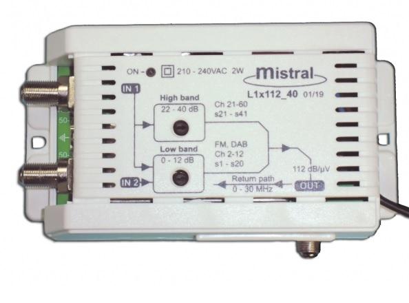 MISTRAL L1x112 (0242) Ενισχυτής Κεντρικής Κεραίας 40dB