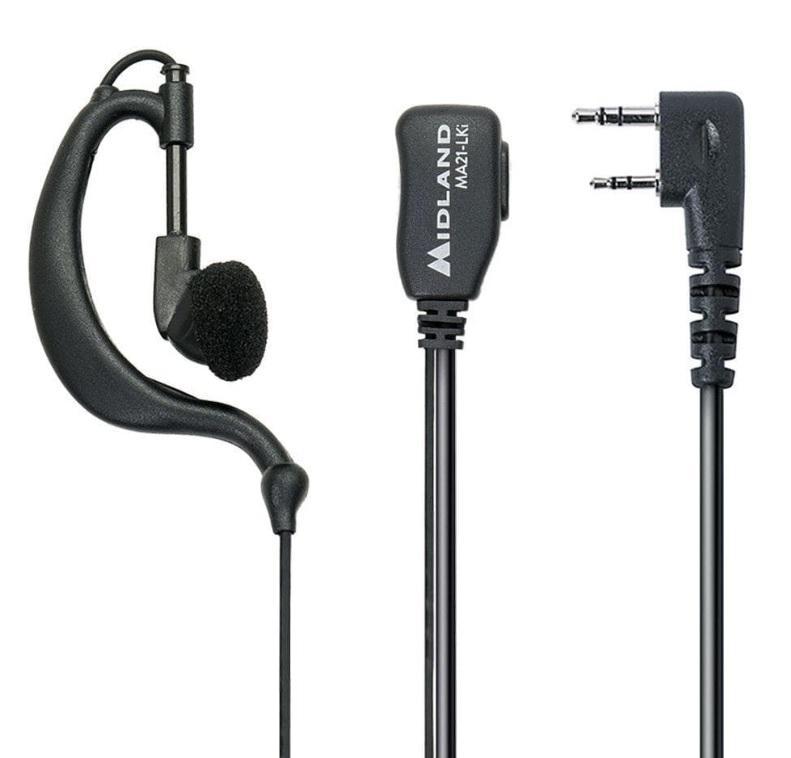 Midland MA21-LKi Ακουστικά Hands Free Πέτου Με PTT