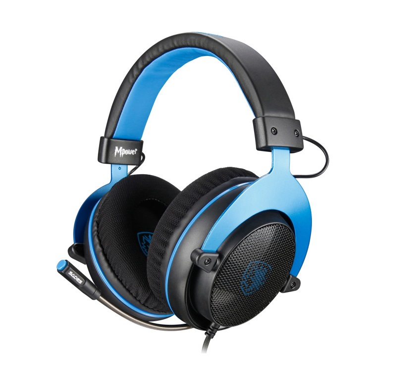 SADES MPOWER SA-723 Gaming Headset PS4/Xbox One/PC 3.5mm, 50mm – Μπλε