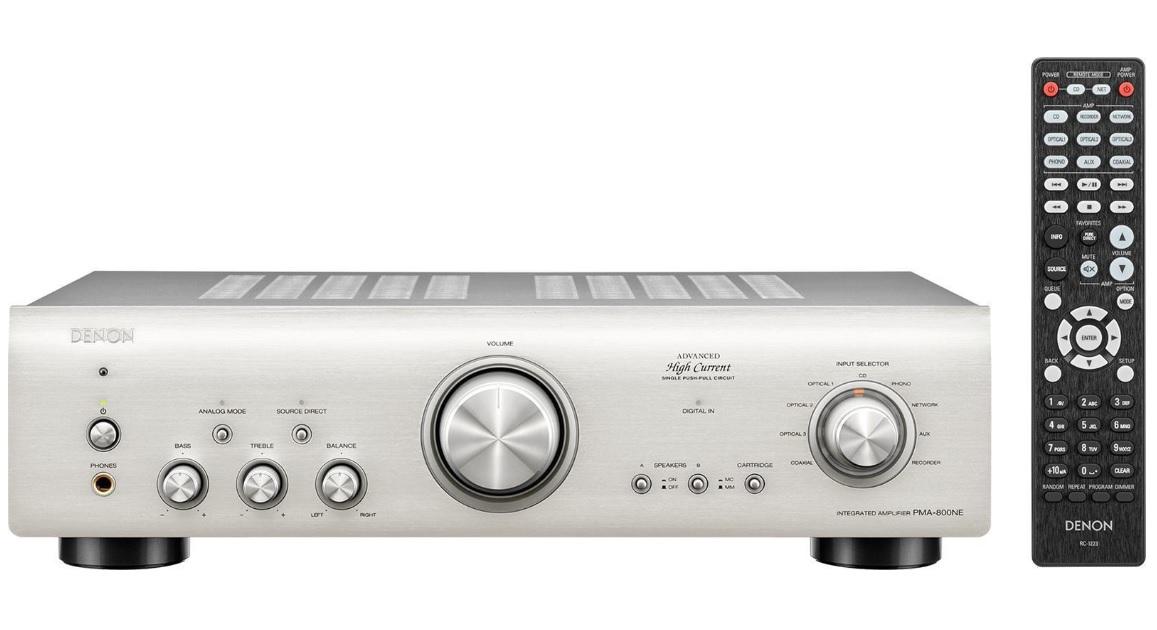 Denon PMA-800NE Silver Ενισχυτής Hi-Fi Stereo 2 x 85W