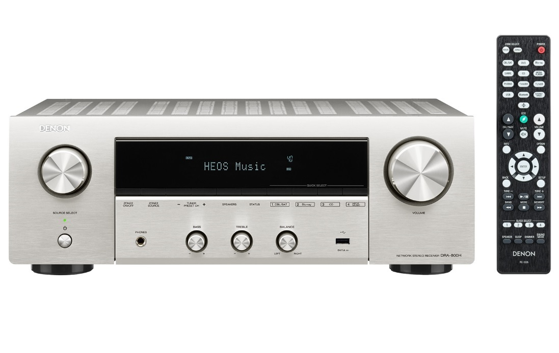 Denon DRA-800H Silver Δικτυακός Ραδιοενισχυτής Hi-Fi Stereo 2 x 100W