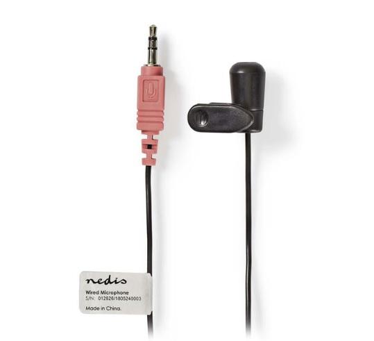 NEDIS MICCJ100BK Ενσύρματο Μικρόφωνο με Κλιπ