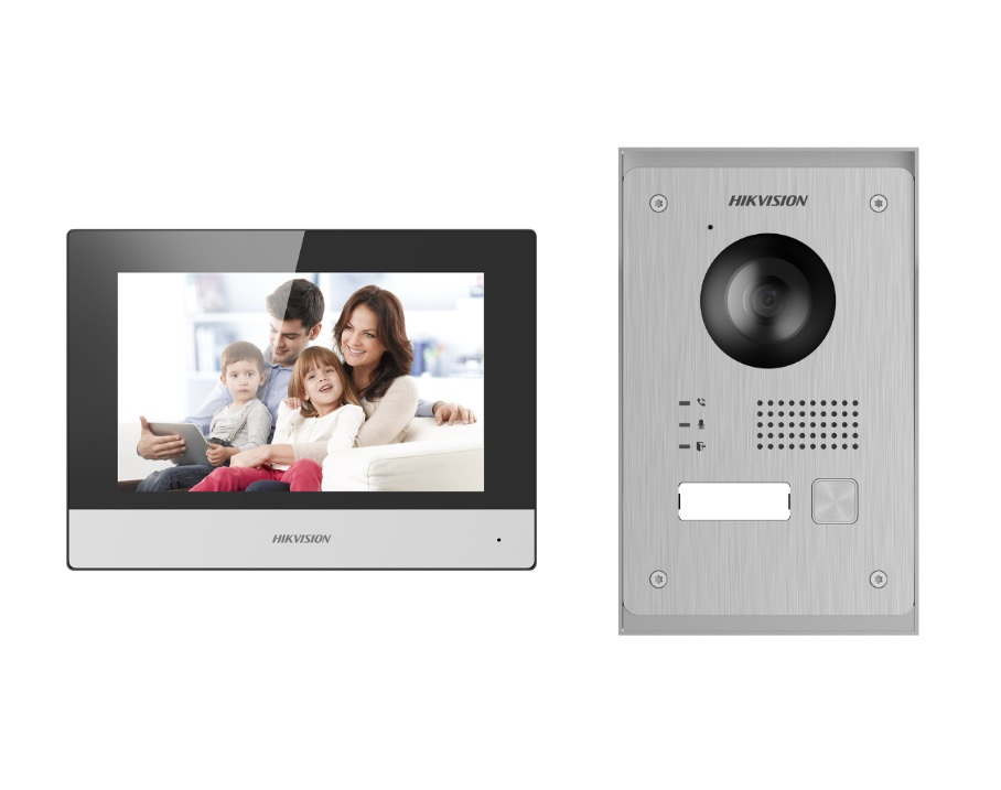 Hikvision DS-KIS703-P Έγχρωμο Κιτ Θυροτηλεόρασης 2 Καλωδίων