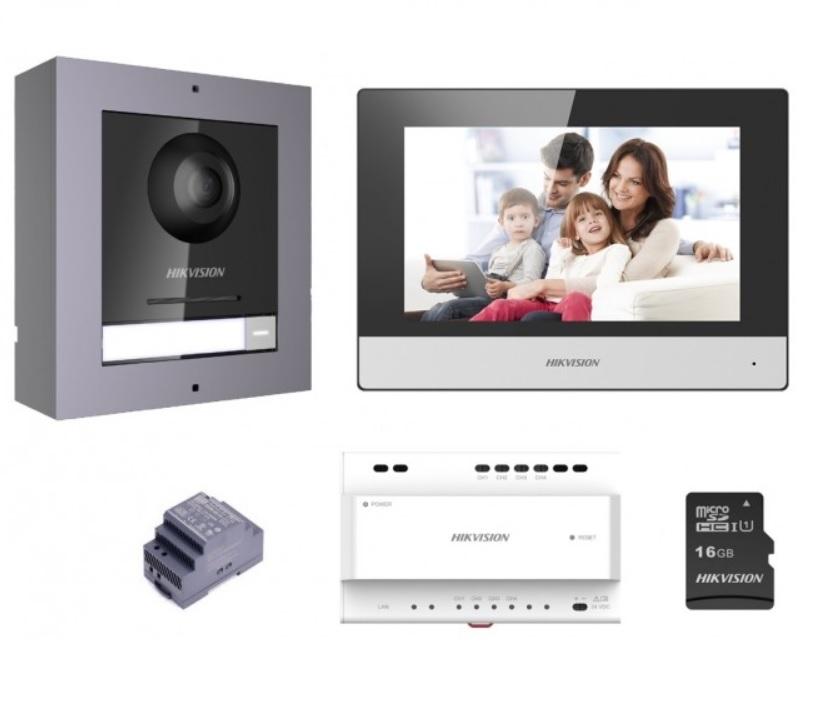 Hikvision DS-KIS702 Έγχρωμο Κιτ Θυροτηλεόρασης 2 Καλωδίων
