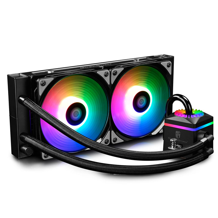 DEEPCOOL CAPTAIN 240 PRO ADD RGB WATER CPU COOLER - UNIVERSAL (INTEL & AMD)