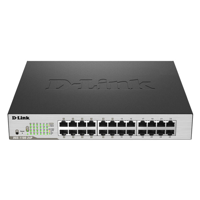 D-LINK DGS-1100-24P POE SMART MANAGED GIGABIT 12X-POE
