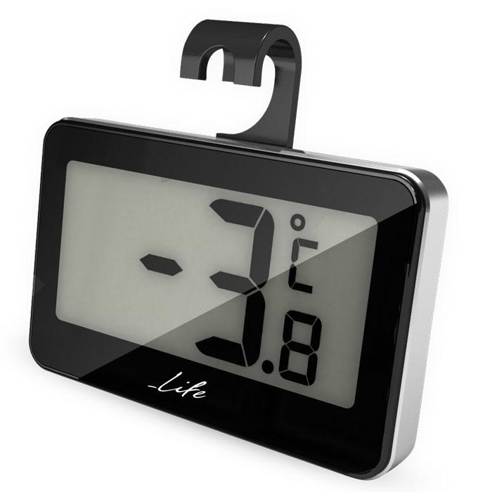 LIFE Fridgy Mini Thermometer Black