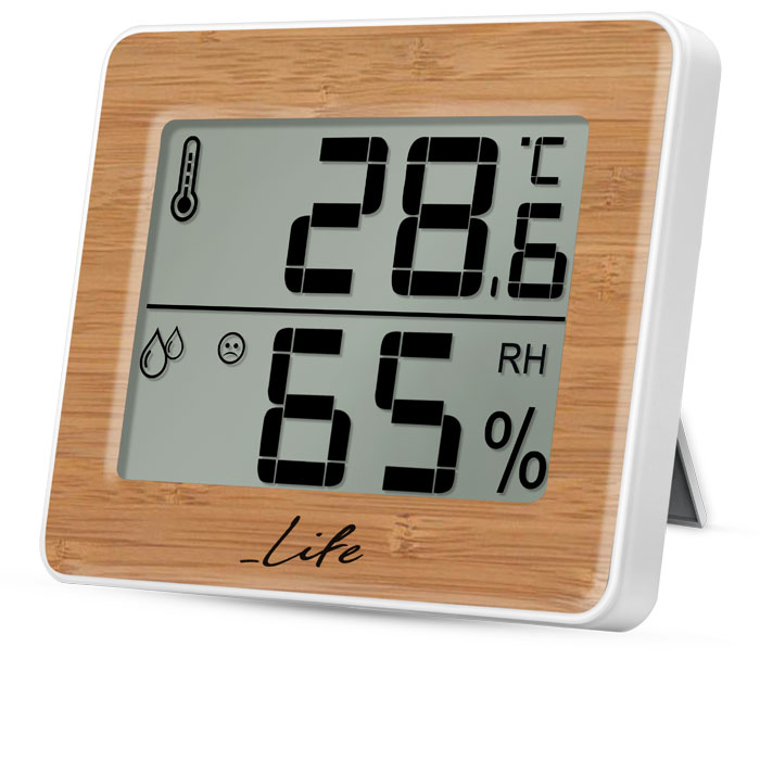 LIFE Gem Bamboo Edition Thermometer with hygrometer