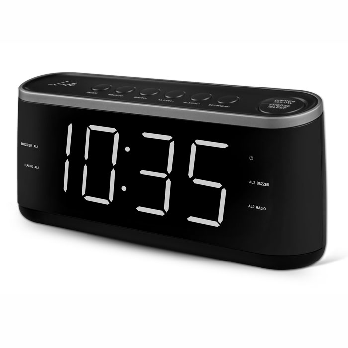 LIFE RAC-003 RADIO ALARM CLOCK WITH LED DISPLAY,BLACK