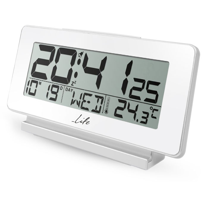 LIFE ACL-200 Alarm clock with Thermometer white