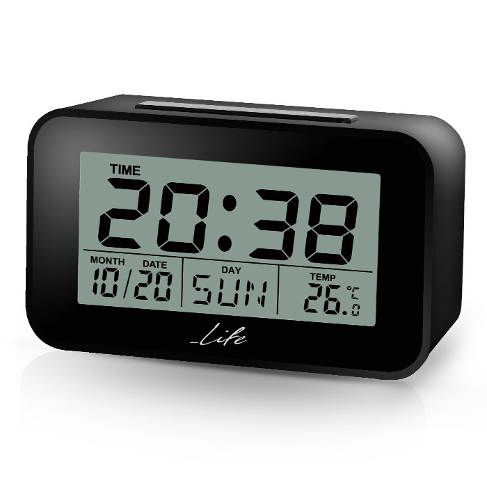 LIFE ACL-201 Alarm clock with Thermometer black