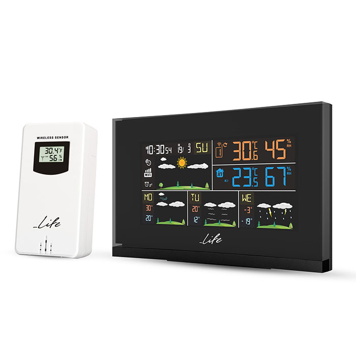 LIFE SMARTWEATHER TUNDRA CURVED  WEATHER STATION  WITH ONE OUTDOOR SENSOR