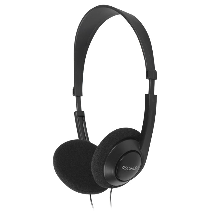SONORA HPTV-100 TV HEADPHONES WITH 6M CABLE,BLACK COLOR