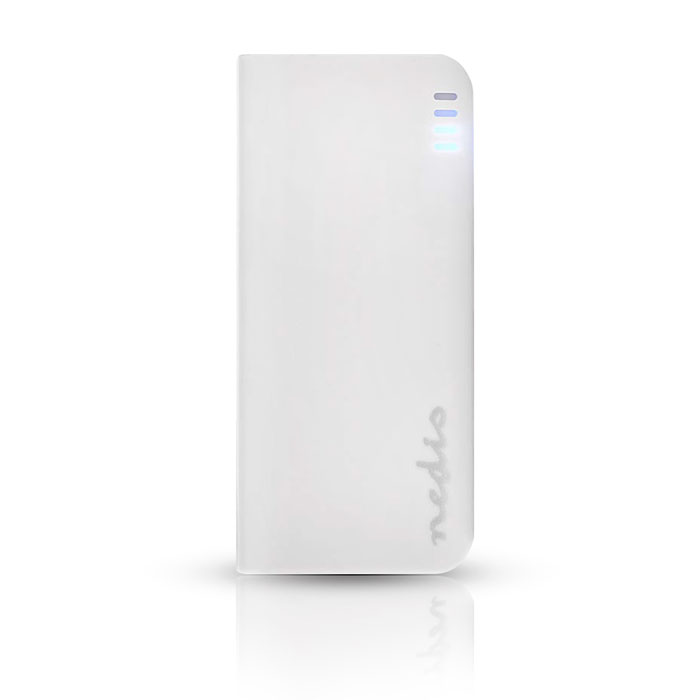 NEDIS UPBK4000WT Power Bank, 4000 mAh, 1-USB-A output 1.0A, Micro USB input, Whi