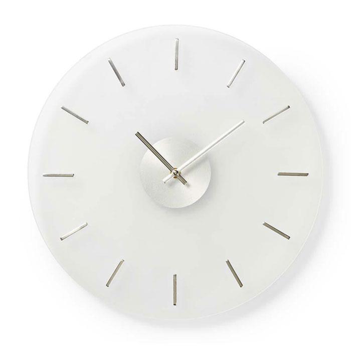 NEDIS CLWA005GL40 Circular Wall Clock, 40 cm Diameter, Elegant, Glass