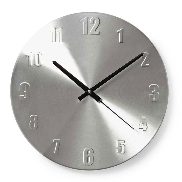 NEDIS CLWA009MT30 Circular Wall Clock, 30 cm Diameter, Aluminium