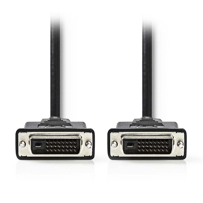NEDIS CCGP32000BK30 DVI Cable, DVI-D 24+1-Pin Male - DVI-D 24+1-Pin Male, 3.0 m,