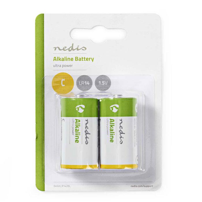 NEDIS BAAKLR142BL Alkaline Battery C, 1.5 V, 2 pieces, Blister
