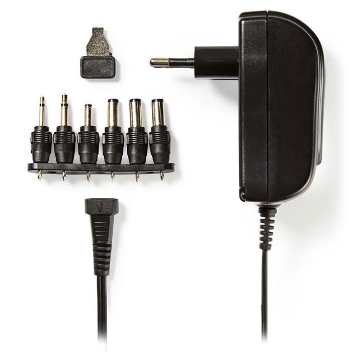 NEDIS ACPA002 Universal AC Power Adapter, 3/4.5/5/6/7.5/9/12 VDC, 1.5 A