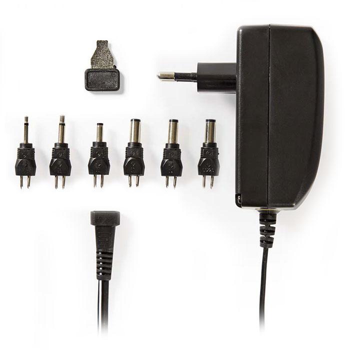 NEDIS ACPA003 Universal AC Power Adapter, 9.0/12/13.5/15/18/20/24 VDC, 1A - 1.5A