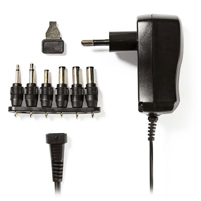NEDIS ACPA006 Universal AC Power Adapter, 3/4.5/5/6/7.5/9/12 VDC, 0.6 A