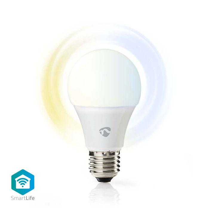 NEDIS WIFILW10WTE27 WiFi Smart LED Bulb, Warm to Cool White, E27