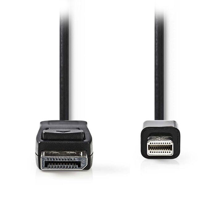NEDIS CCGP37400BK30 Mini DisplayPort male - DisplayPort Male, 3.0 m, Black