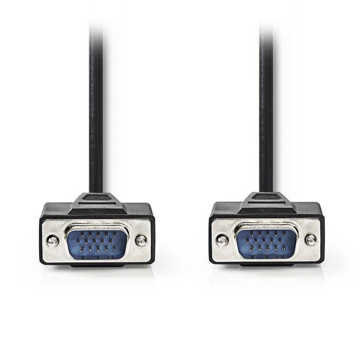 NEDIS CCGP59000BK200 VGA Cable, VGA Male - VGA Male, 20 m, Black
