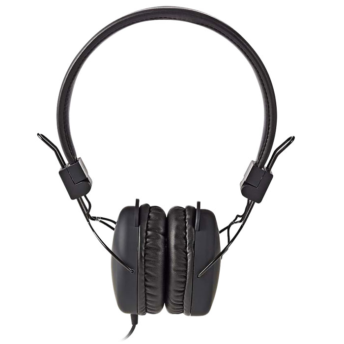 NEDIS HPWD1100BK Wired Headphones, On-ear, Foldable, 1.2 m Round Cable, Black