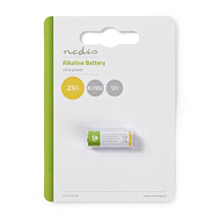 NEDIS BAAK23A1BL Alkaline Battery 23A, 12 V, 1 piece, Blister