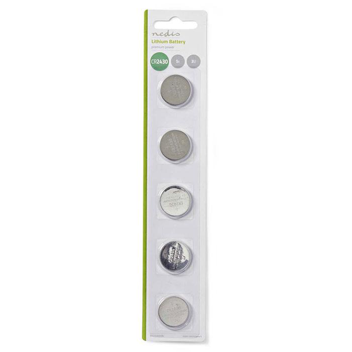 NEDIS BALCR24305BL Lithium Button Cell Battery CR2430, 3V, 5 pieces, Blister