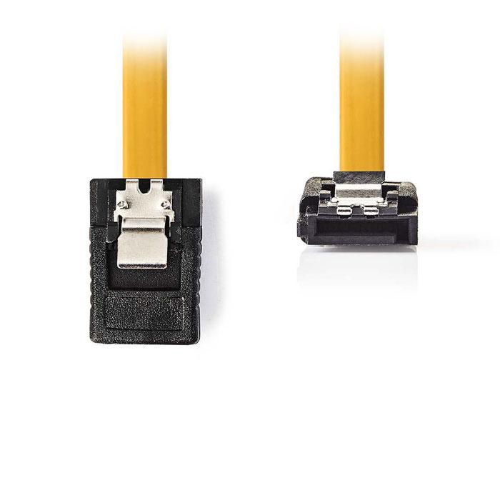 NEDIS CCGP73255YE10 SATA 6Gb/s, SATA 7-pin Female with Lock - Female 90° Angled