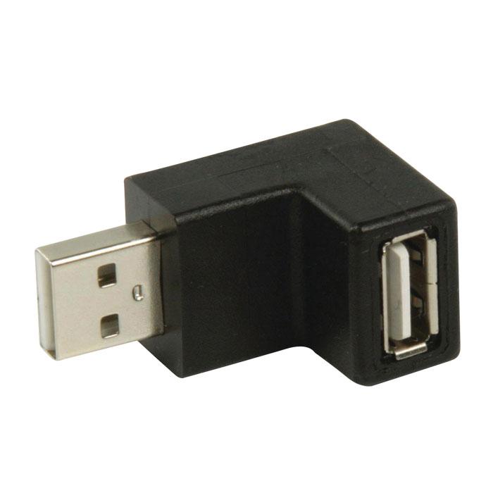 NEDIS CCGP60940BK USB 2.0 Adapter,  A Male - A Female, 270° Angled, Black