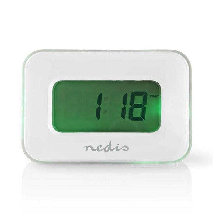 NEDIS CLAL110WT Digital Alarm Clock, Date/Temperature, Multi-Colour Display