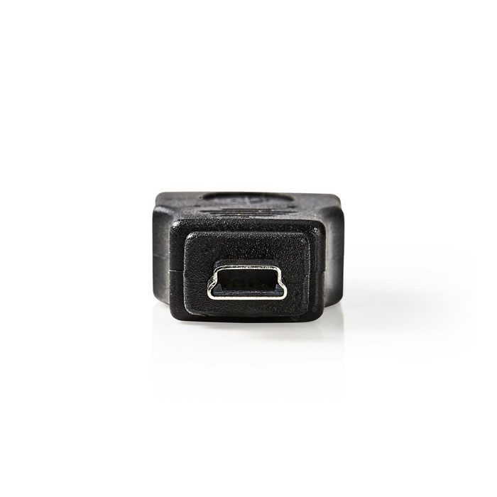NEDIS CCGP60902BK USB 2.0 Adapter, Mini 5-Pin Male - A Female, Black