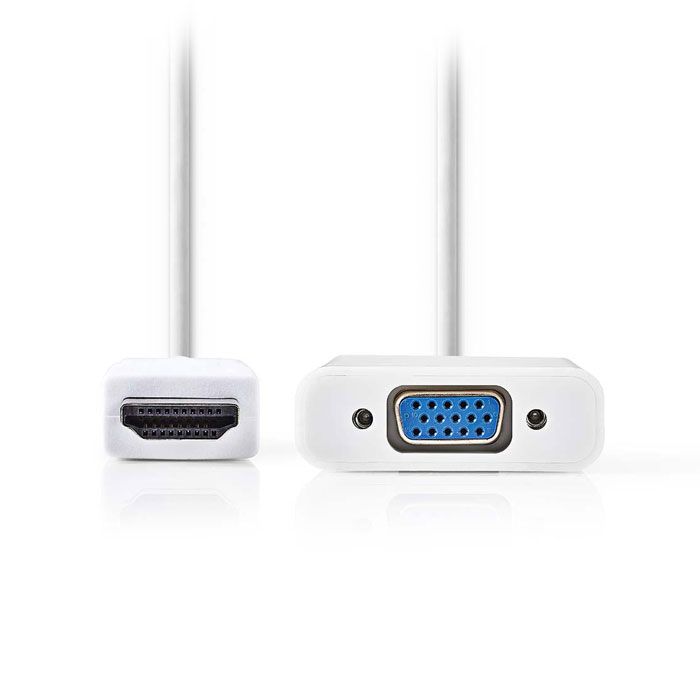 NEDIS CCGP34900WT02 HDMI - VGA Cable, HDMI, Connector - VGA Female + 3.5 mm outp