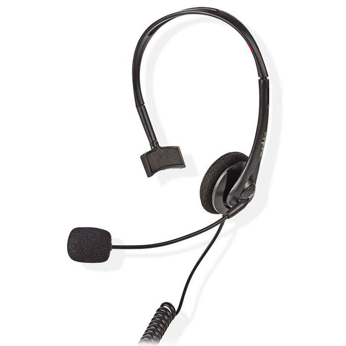 NEDIS CHSTRJ100BK Ακουστικά κεφαλής με βύσμα RJ9 για σταθερά τηλέφωνα 2.2m, Black