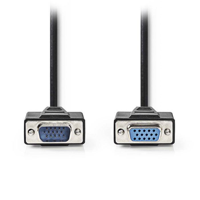 NEDIS CCGP59100BK100 VGA Cable VGA Male-VGA Female 10 m Black