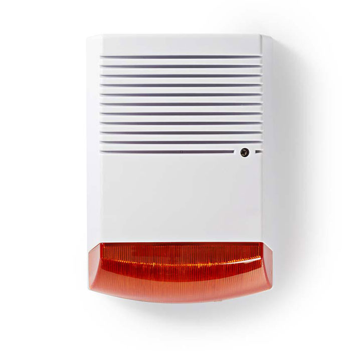 NEDIS DUMSS20WT Ομοίωμα Σειρήνας Security με LED που Αναβοσβήνει IP44